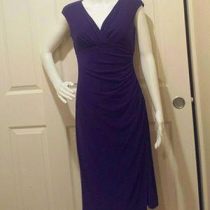 Ralph Lauren Purple Fitted Dress Sz 4. C